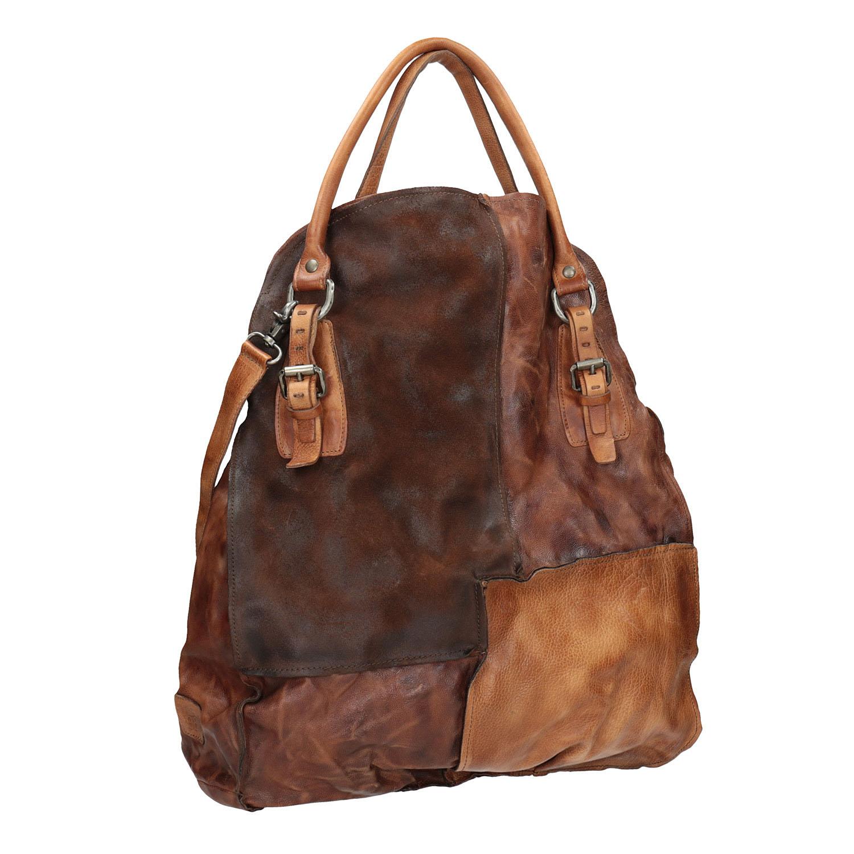Skórzana torba ze sztywnymi uchwytami - 9660001