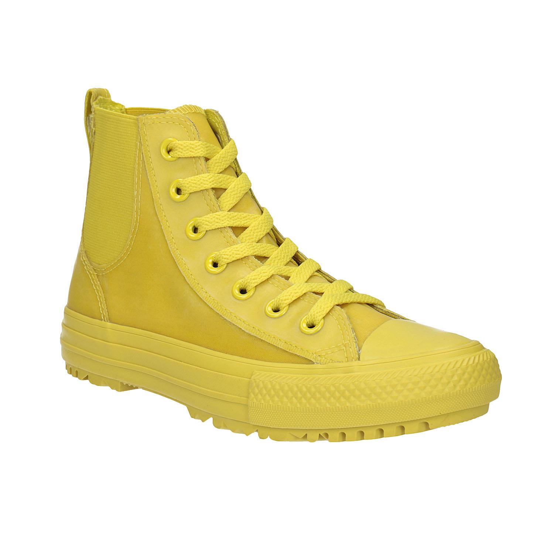 Žluté kotníčkové tenisky dámské