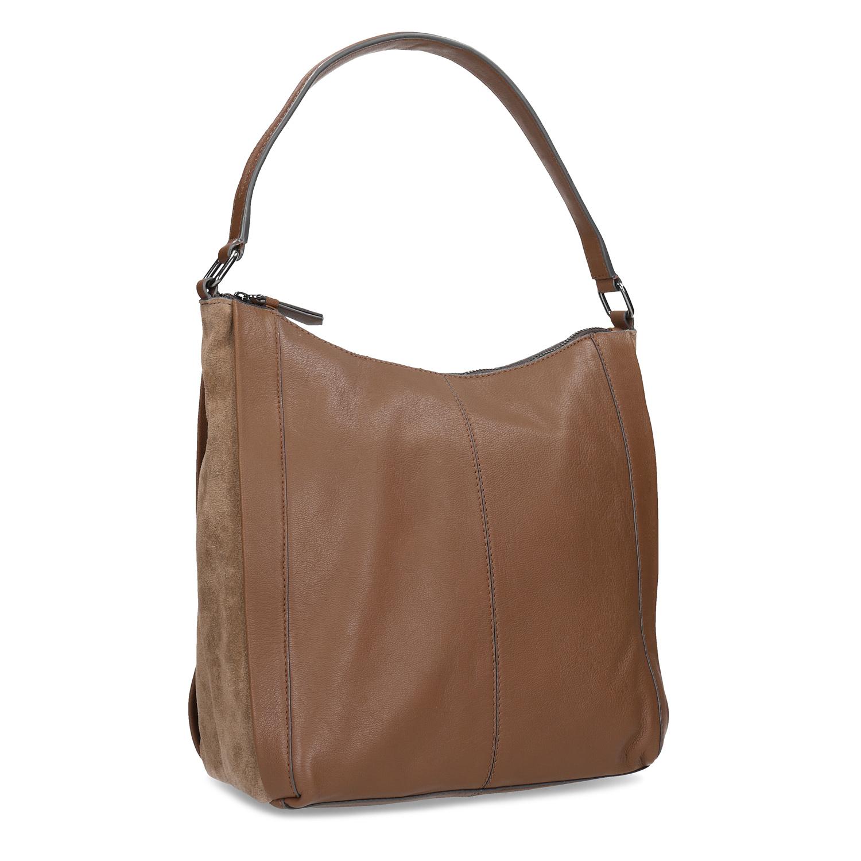Hnědá kožená kabelka