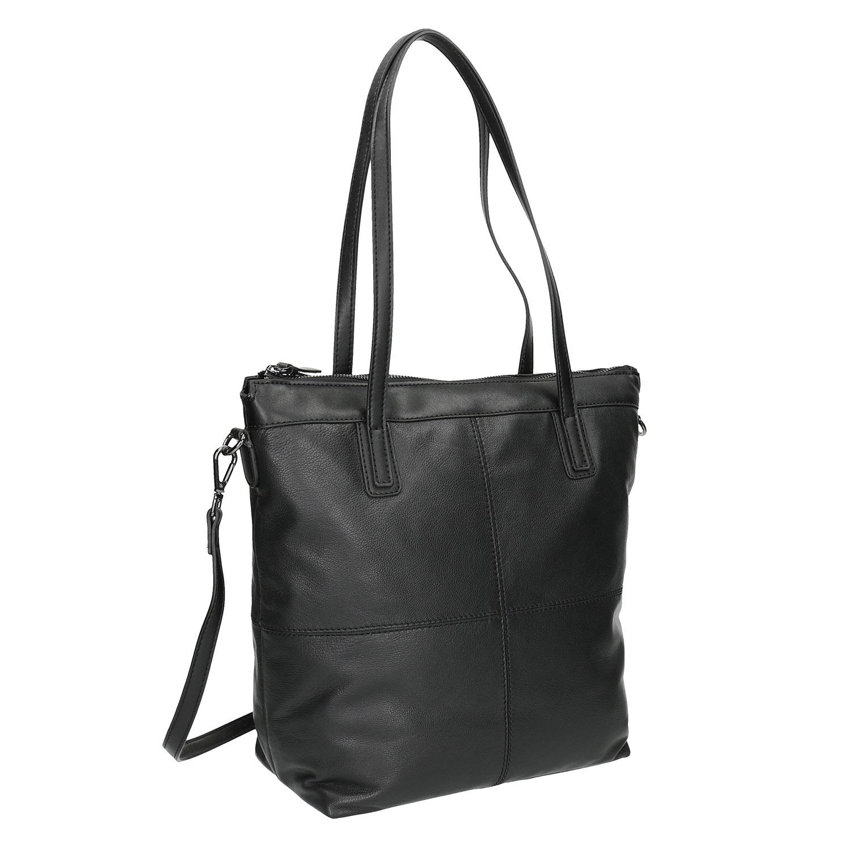 Kožená kabelka s odnímatelným popruhem