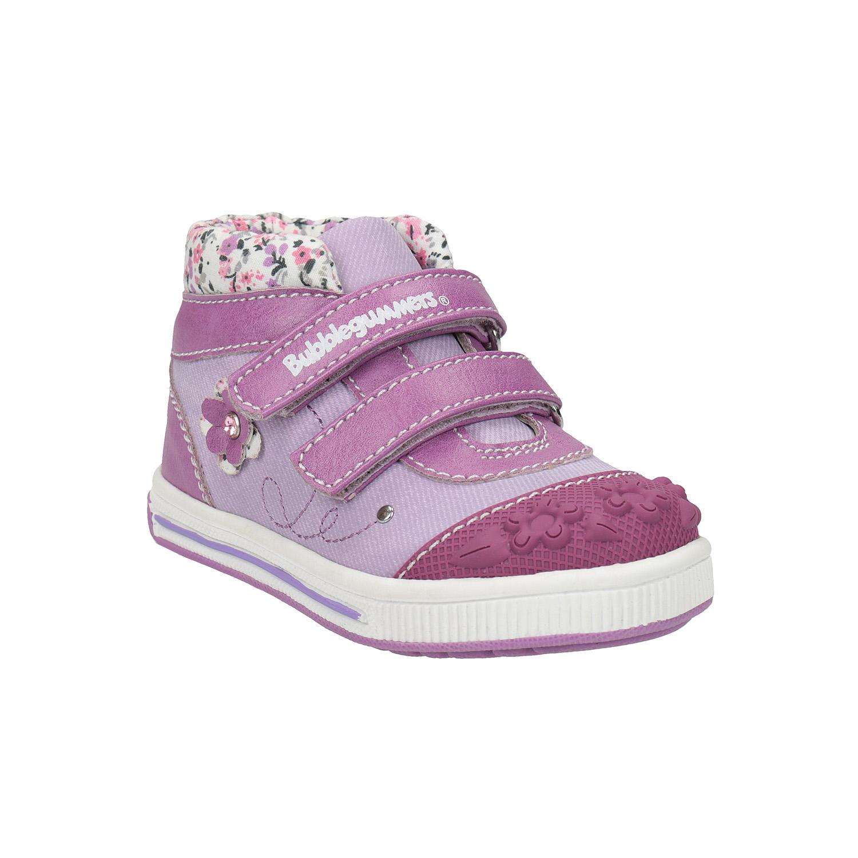 Dívčí kotníčková obuv s kytičkami