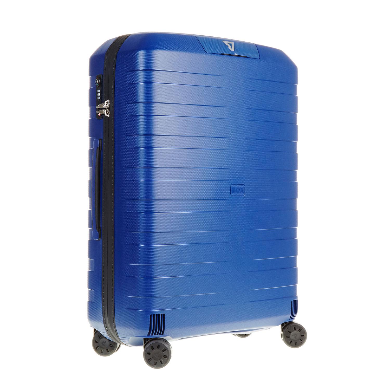 Modrý kufr na kolečkách