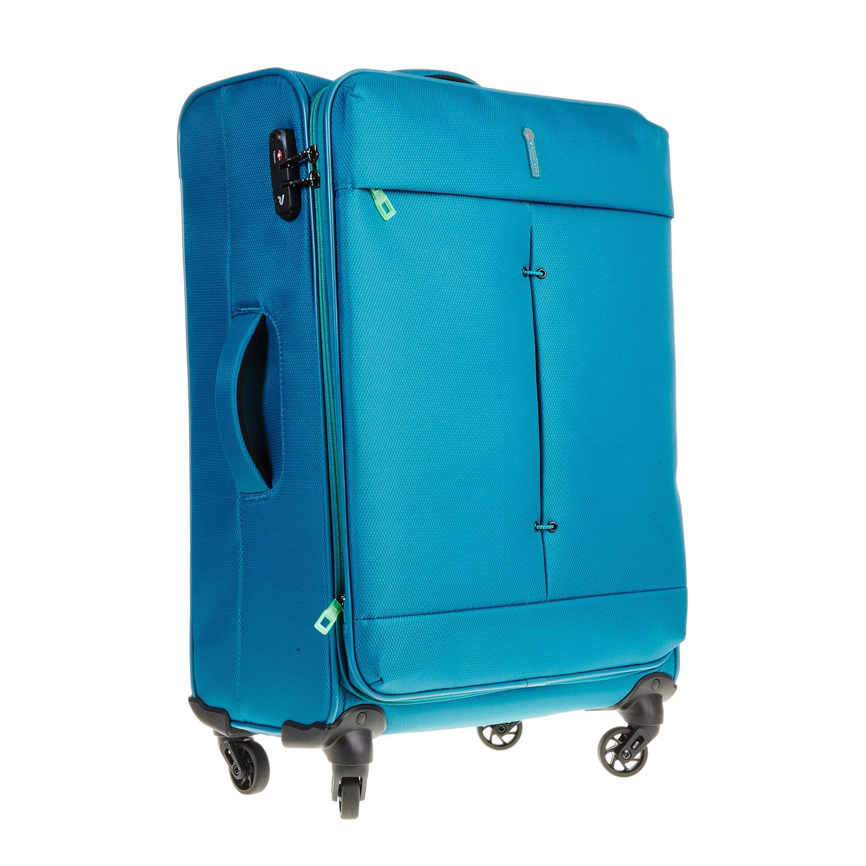 Modrý cestovní kufr