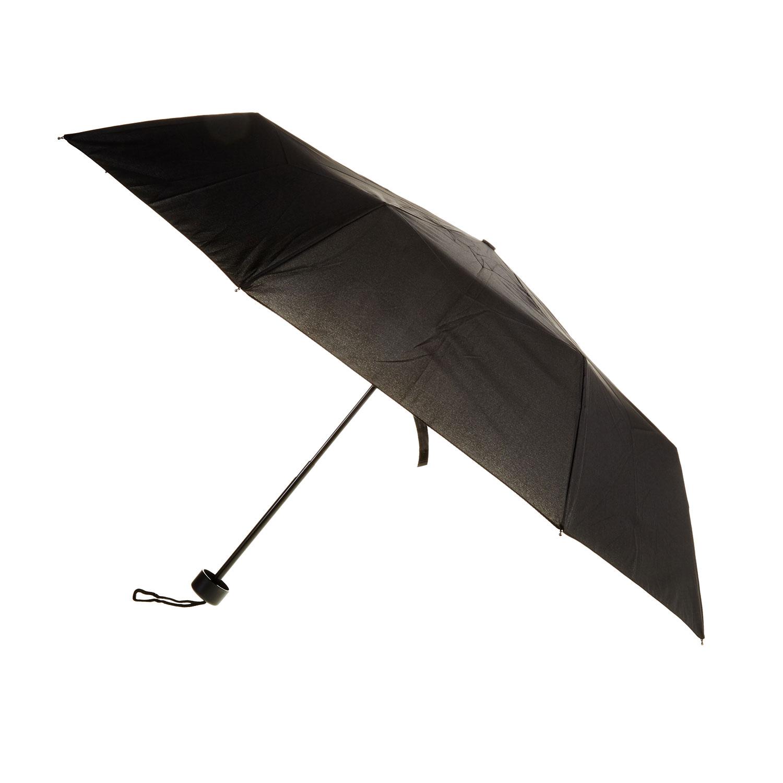 Černý skládací deštník