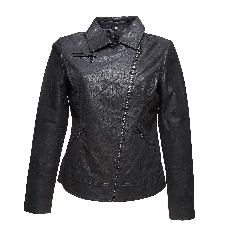 Dámská kožená bunda s límečkem