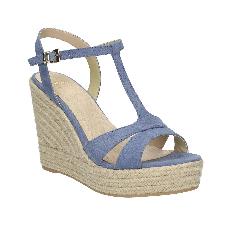 Modré sandály na platformě