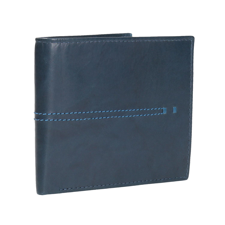 Kožená peněženka s prošíváním