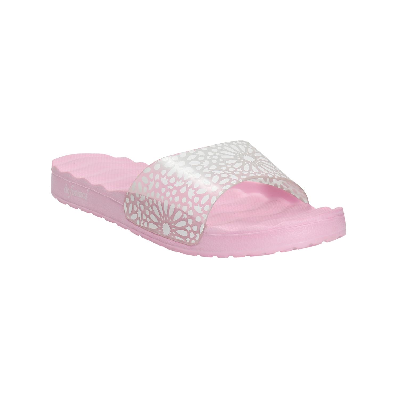 Różowe klapki damskie - 5725287