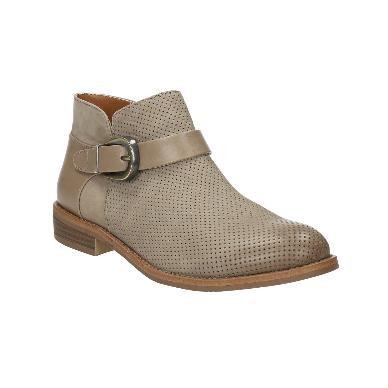 Kožená kotníčková obuv se sponou