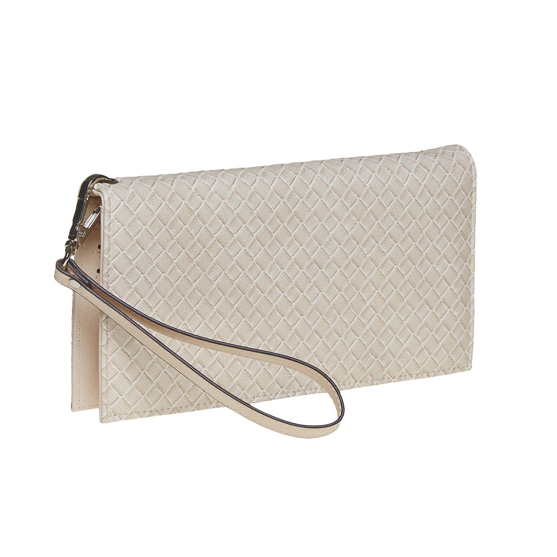 Krémová dámská peněženka s poutkem