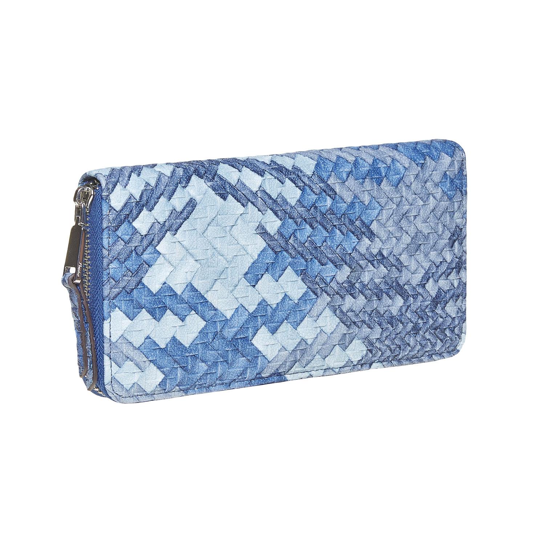 Modrá dámská peněženka se vzorem
