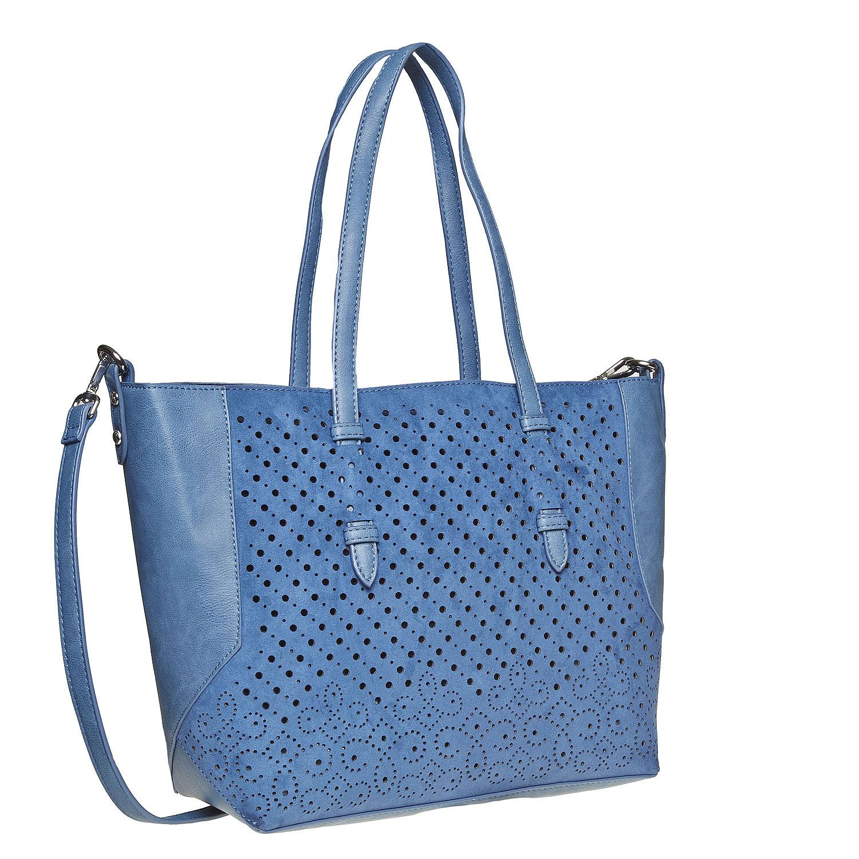 Modrá kabelka s perforací