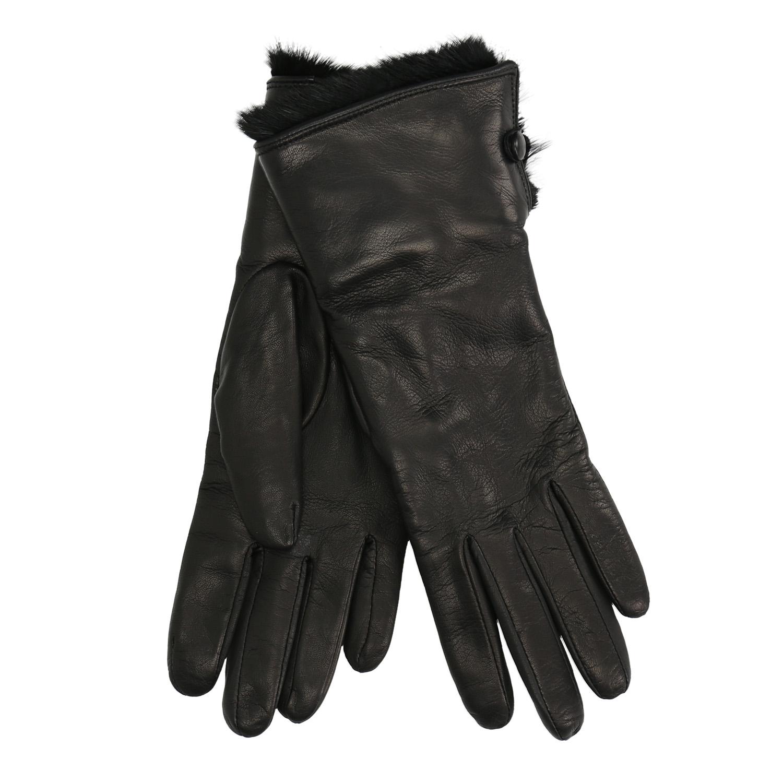 Kožené rukavice s kožíškem