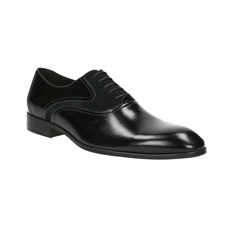 Czarne skórzane półbuty typu oksfordy - 8246887