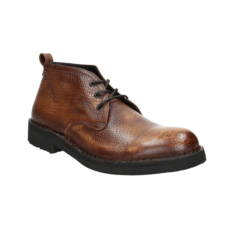 Kožená pánská kotníčková obuv