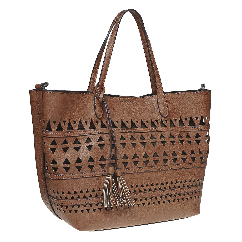 Perforovaná dámská kabelka