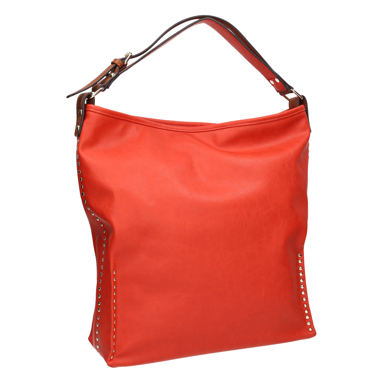 Červená kabelka s dvojitým uchem