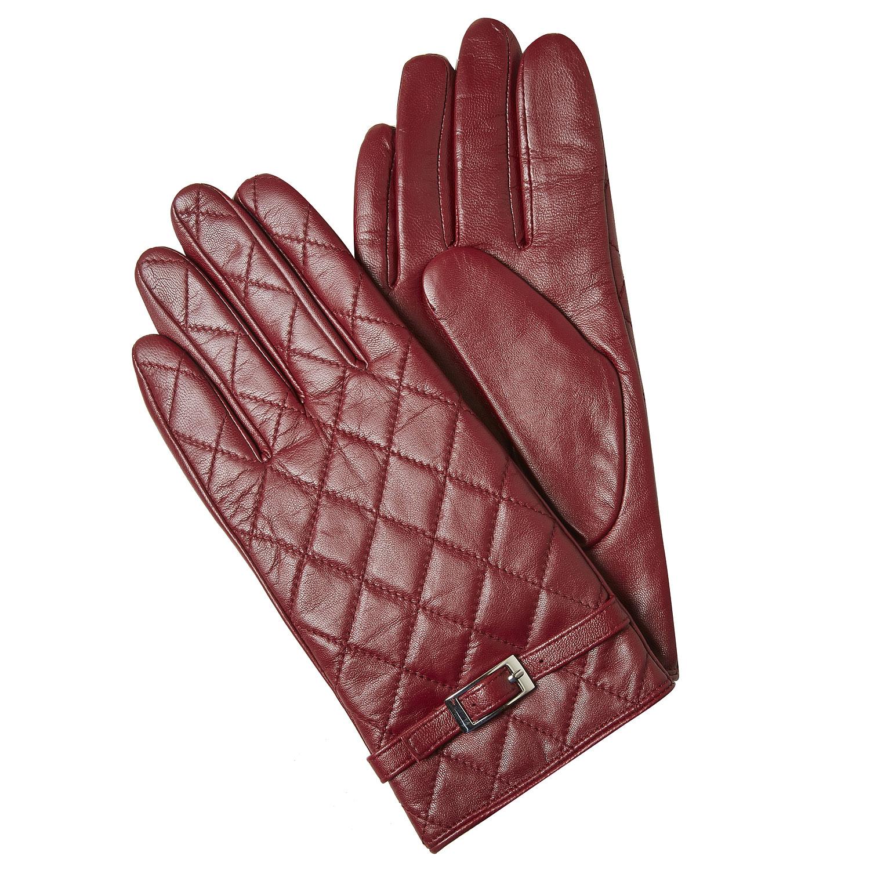 Prošívané kožené rukavice