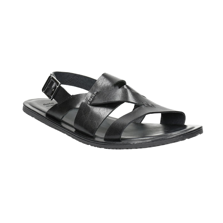Pánské kožené sandály černé