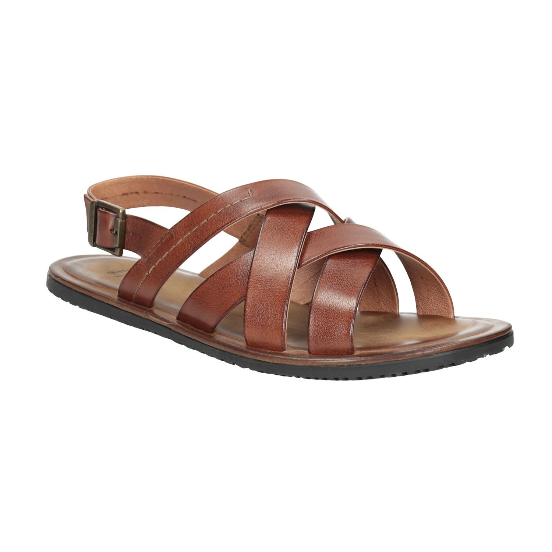 Pánské kožené sandály hnědé