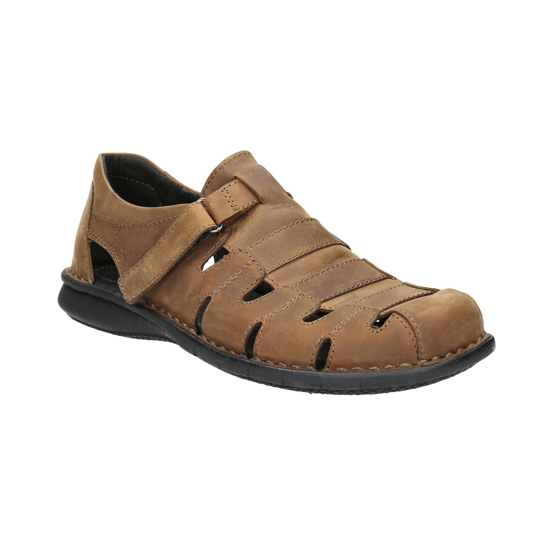Kožené pánské sandály hnědé