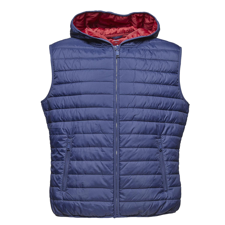 Pánská prošívaná vesta s kapucí