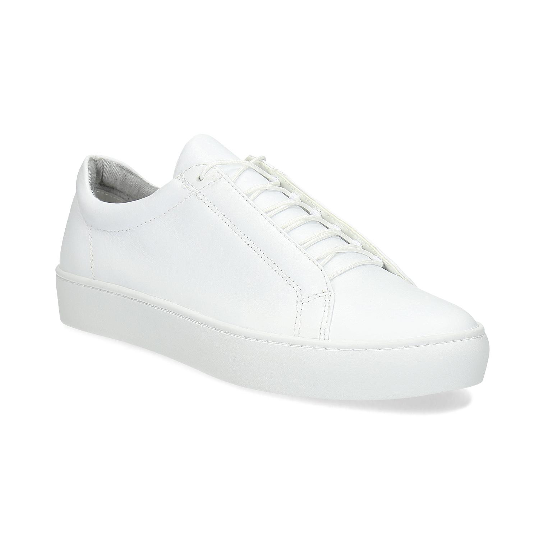 Bílé kožené tenisky dámské