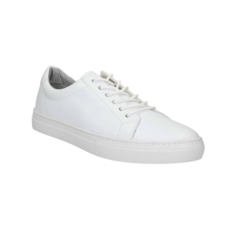 Bílé kožené tenisky