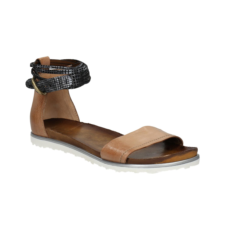 Dámské sandály s kontrastním páskem
