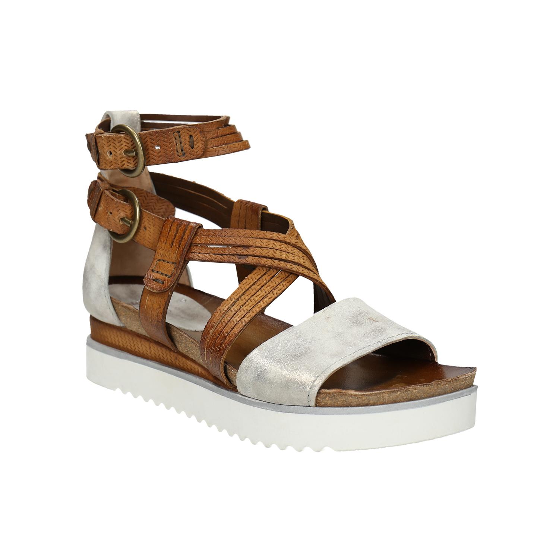 Kožené sandály na flatformě