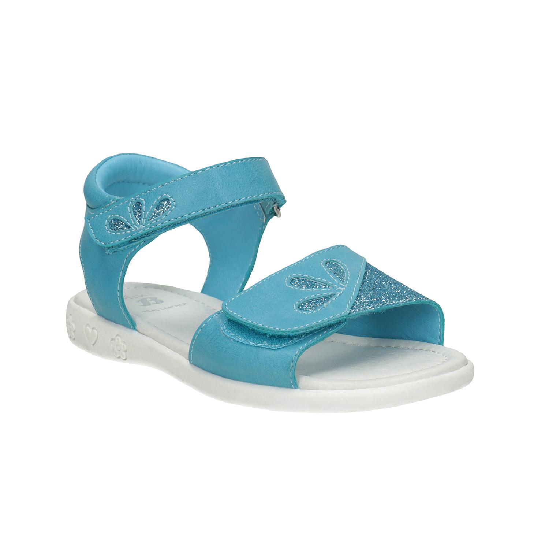 Dívčí tyrkysové sandály