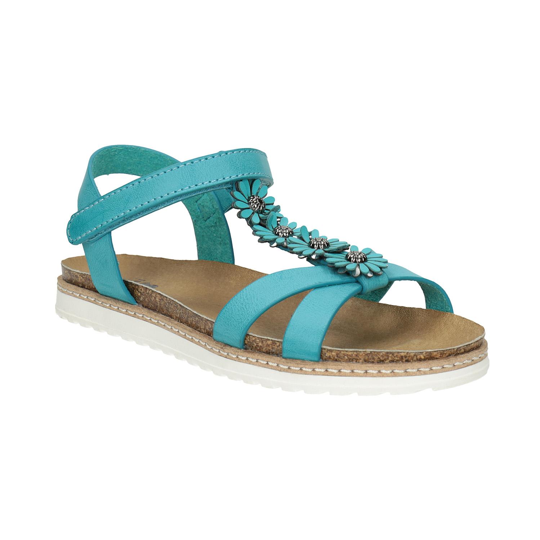 Dětské sandály s kytičkami