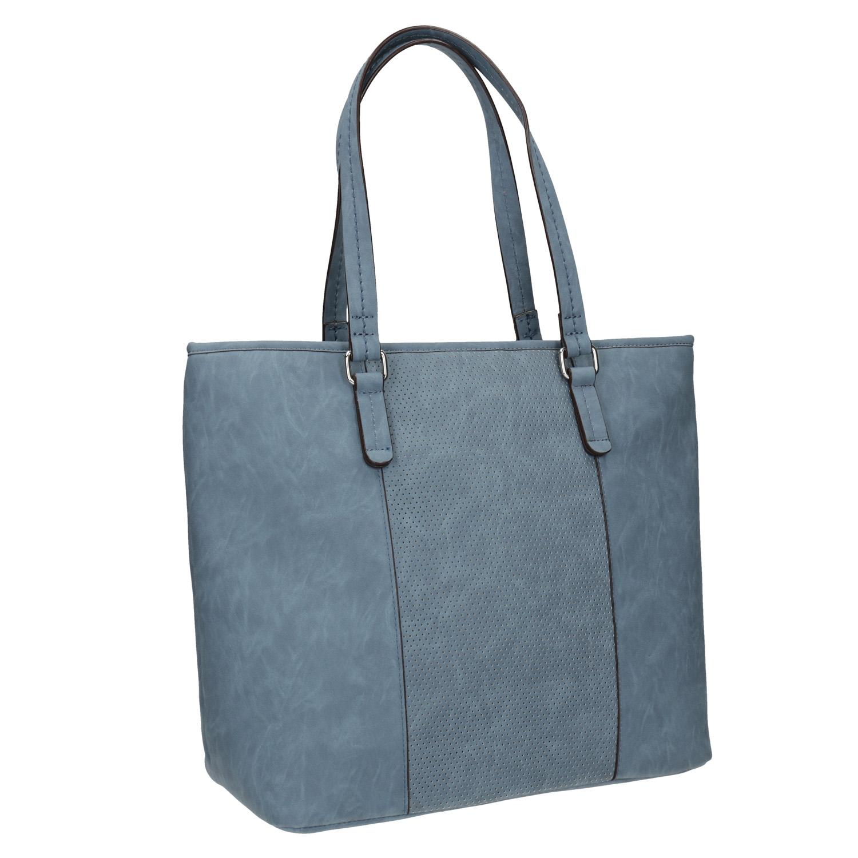 Modrá kabelka s perforovaným detailem