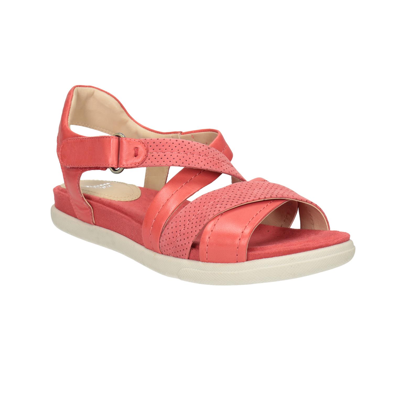 Czerwone sandały ze skóry - 5665609