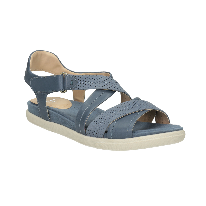 Niebieskie sandały ze skóry - 5669609