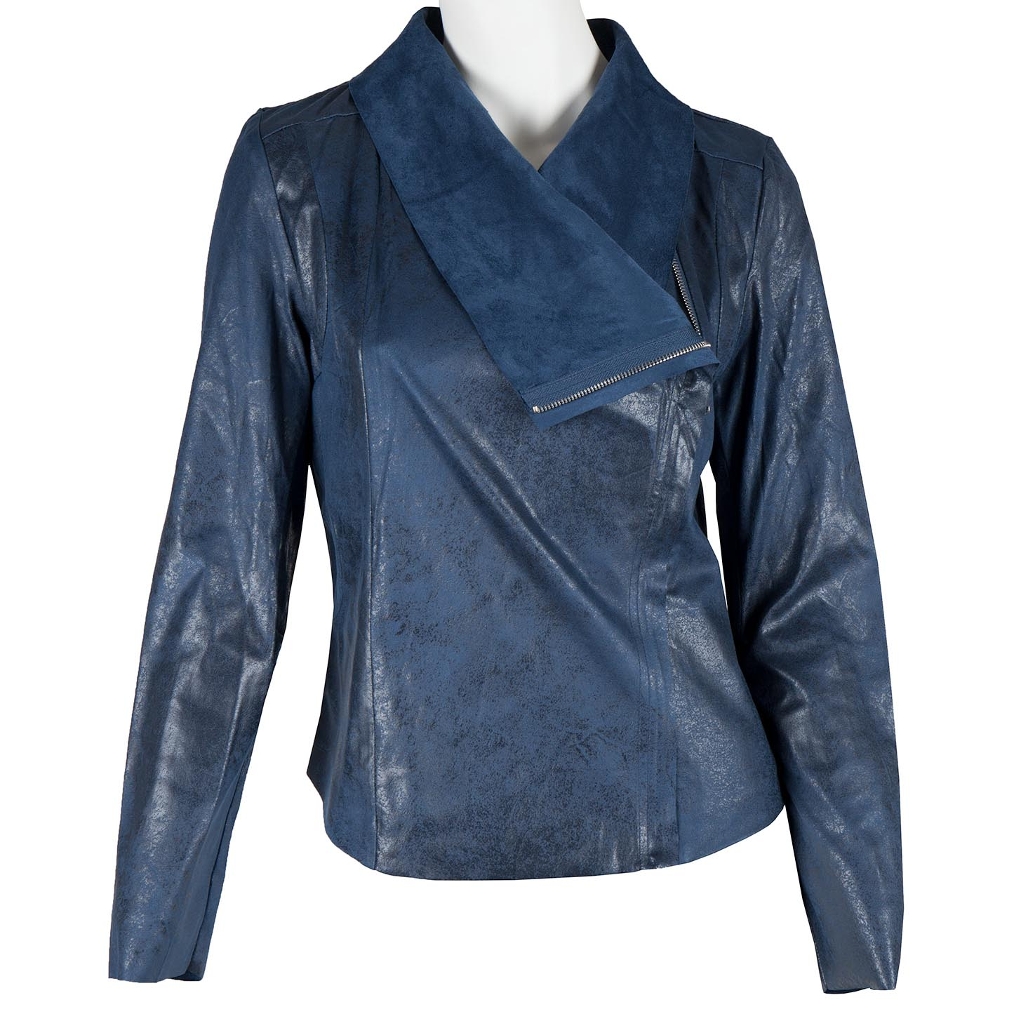 Modrá jarní bunda