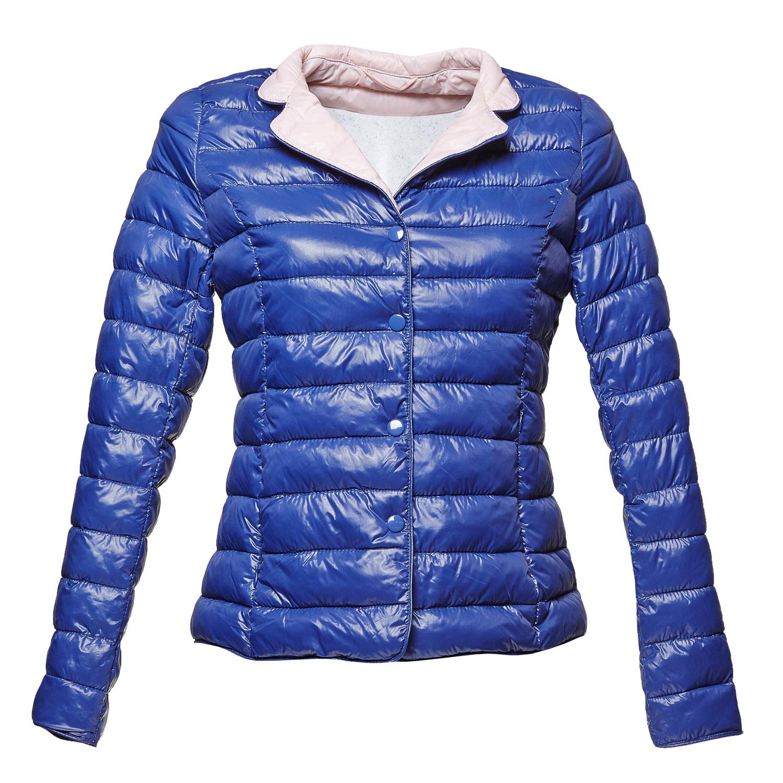 Modrá prošívaná bunda