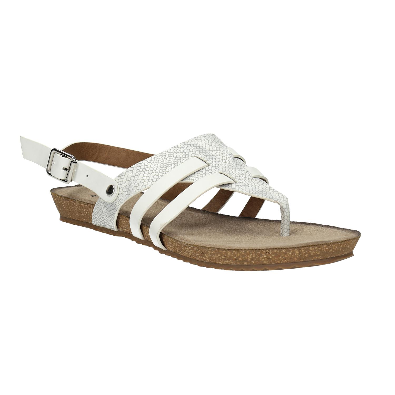 Korkové sandály s páskem mezi prsty