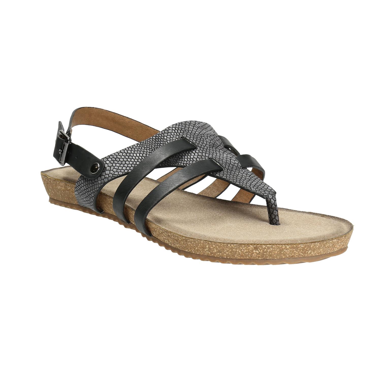 Korkové sandály s hadím vzorem