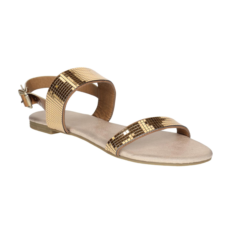 Zlaté dámské sandály