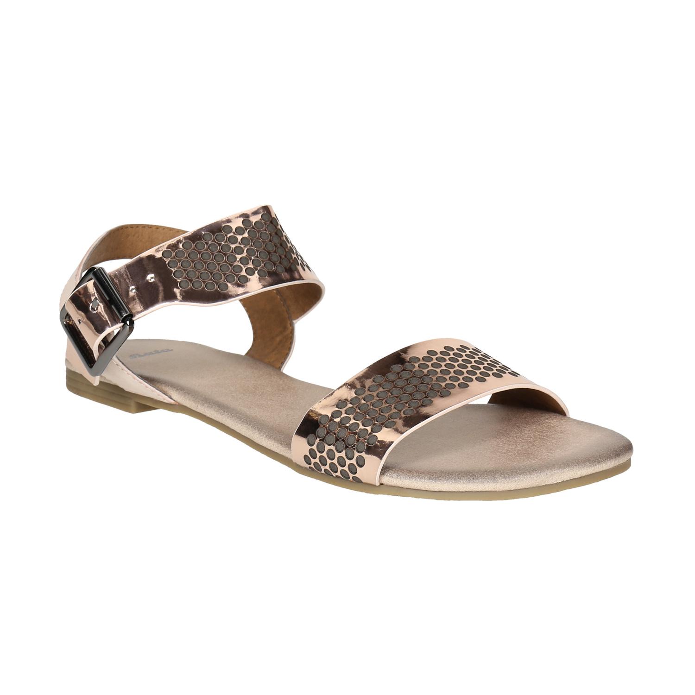 Zlaté sandály s perforací