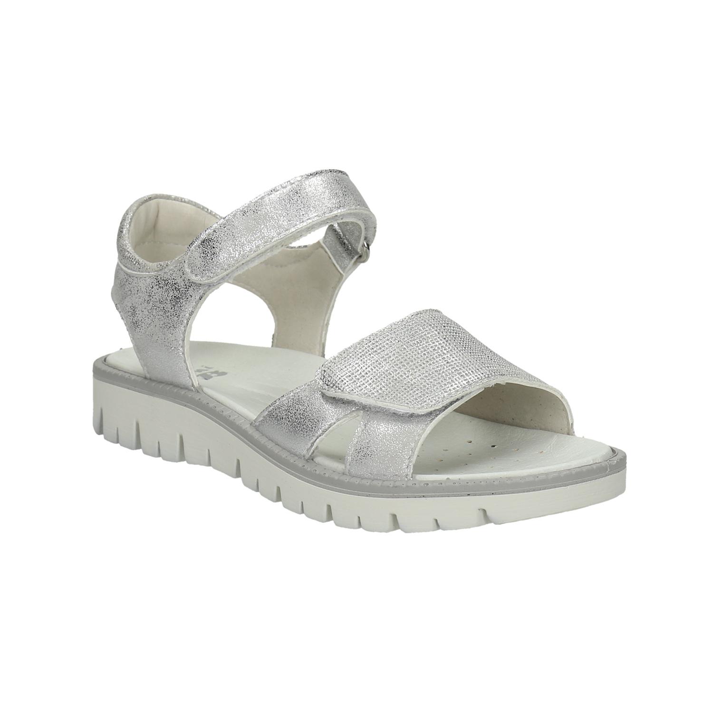 Stříbrné dětské sandály