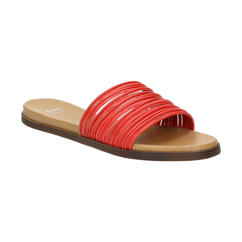 Červené kožené nazouváky