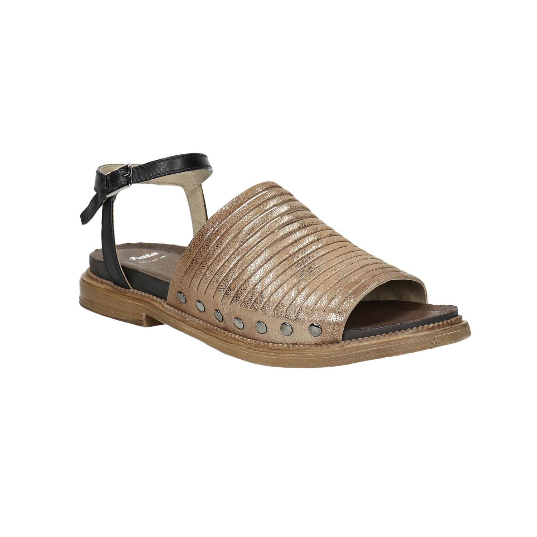 Dámské kožené sandály se cvoky