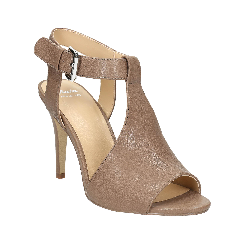 Skórzane sandały na szpilce - 7664600