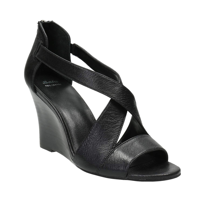 Czarne sandały ze skóry - 7666601