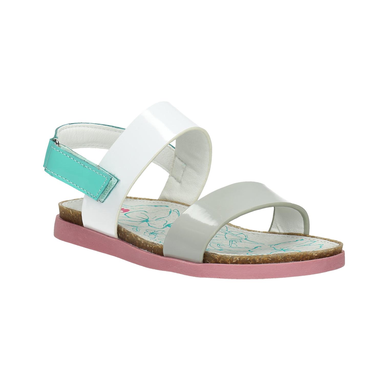 Dívčí sandály s růžovou podešví