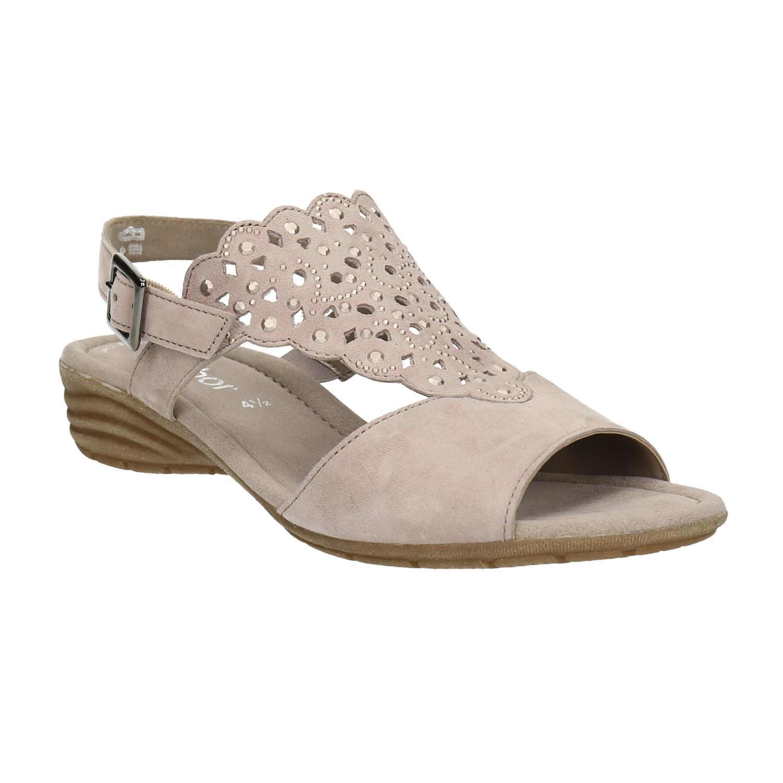 Kožené sandály s kamínky
