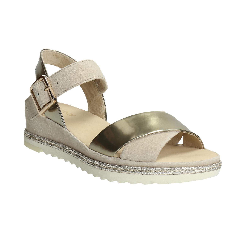 Skórzane sandały na grubej podeszwie - 6638202