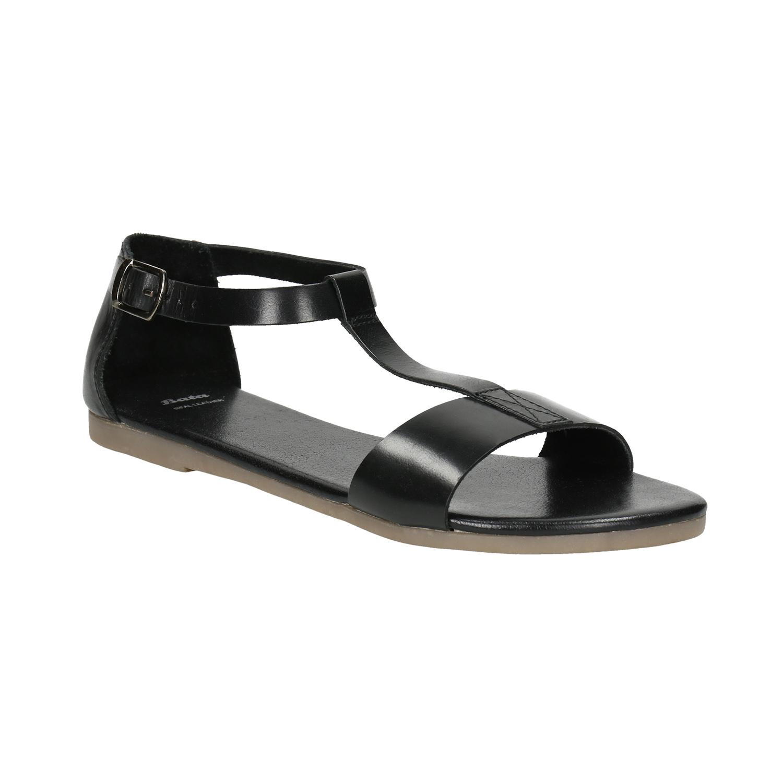 Czarne sandały ze skóry - 5646600